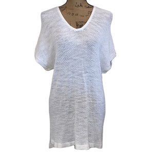 GAP White High-Low Sweater Tunic